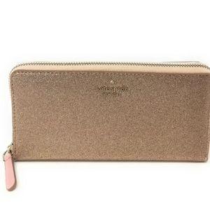 Kate Spade Joeley Large Continental Glitter Wallet